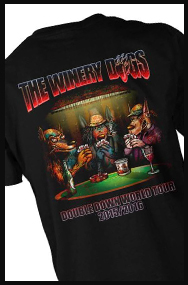 THE WINERY DOGS POKER TEE (official t-shirt)