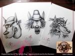 "Ilustraciones originales de ""The Winery Dogs"""